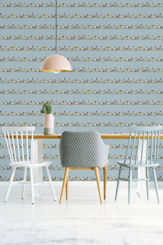 Graham and Brown Tweeting Blue Birds 106628 Wallpaper